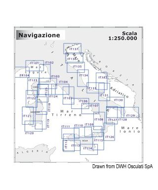 Carte Navimap IT128-IT129 De Sibari à Capo S. M. di Leuca