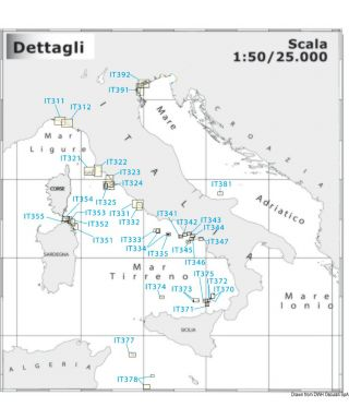 Carte Navimap IT381-IT382 I. Tremiti