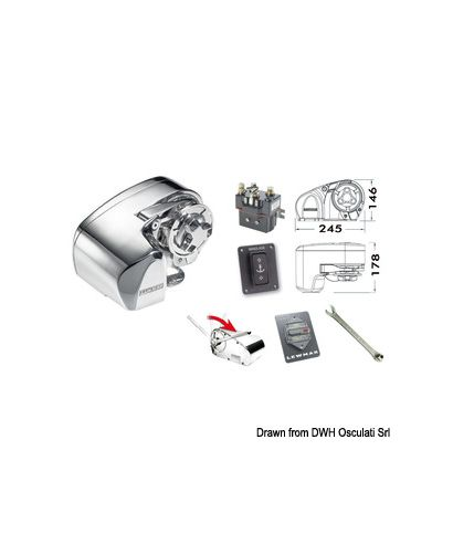 Treuil Lewmar Pro 1000 barbotin 6 mm 12V 700W bout 12mm