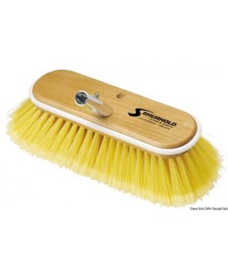 Brosse 10 pouces fibres souples jaunes