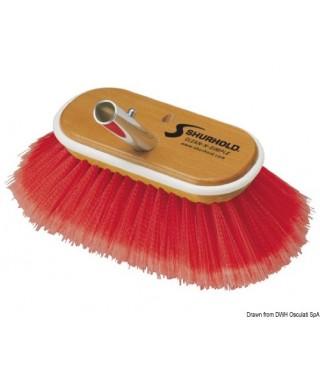 Brosse 6 pouces fibres souples + moyennes rouges