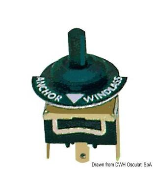 Kit interrupteur pour guindeaux ON-OFF-ON à ressort avec capuchon étanche
