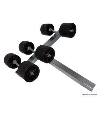 Rouleau pivotant 40mm 6 rouleaux diamètre rouleaux 100mm