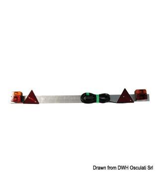 Barre arrière avec feux dynamiques à LED réglable 110/190 cm