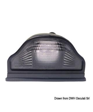 Feu arrière à LED pour plaque