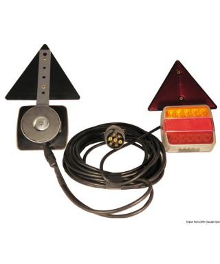KIt feu à LED fixation magnétique 4 fonctions 12/24V