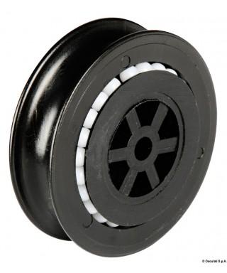 Poulie 12 mm en nylon montées sur billes en Delrin®