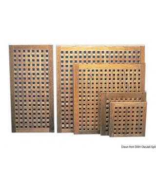 Caillebotis teck 1000 x 1000 mm épaisseur 22 mm