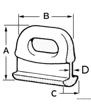 Coulisseau nylon pour grand-voile 10 mm