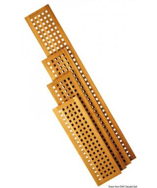 Caillebotis teck 1250 x 300 mm planchers ou passerelles épaisseur 22mm