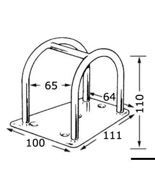 Porte-tangon inox 110 mm léger et fonctionnel