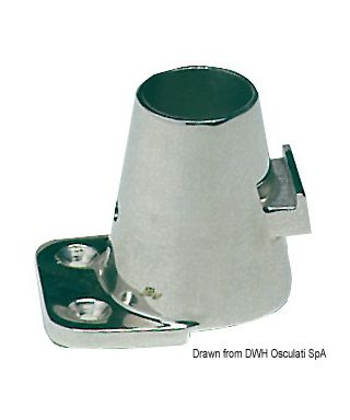 Platine fargue inclinée 7° 55x73mm 65mm pour chandeliers 25mm