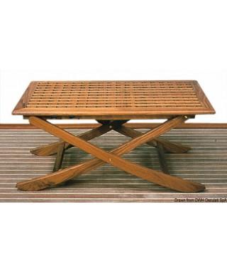 Table teck pliante 125x80 cm ouverte 125x80x14 repliée