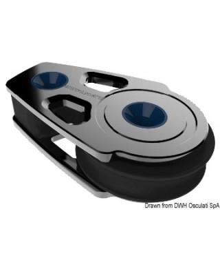 Renvoi plat simple avec cran d'arrêt Synchro 60mm Fixation 2 pivots de 8 mm