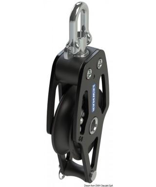 HTX 72 poulie simple avec ringot poulie 72mm bouts maxi 14mm