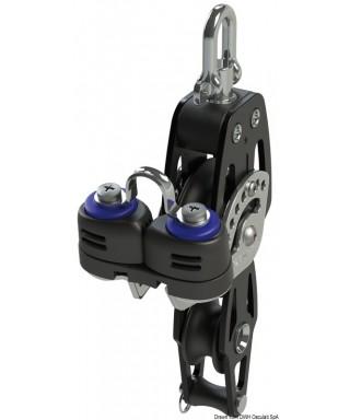 Poulie à violon avec ringot et coinceur HTX 72 poulie 72mm bouts maxi 12mm