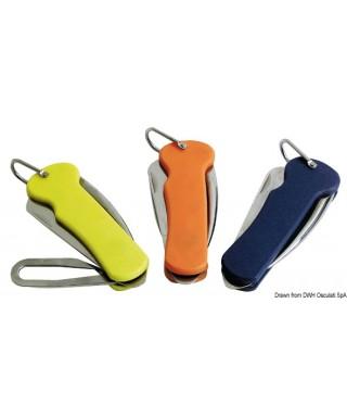 Couteau voile inox poignée en plastique jaune