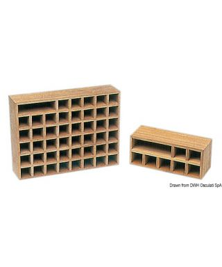Rangement pavillon national 40 pavillons 41x31x10,5 cm