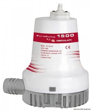 Pompe de cale immergée Europump II 1500 12V Débit 96L/m