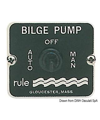 Interrupteur Rule pour pompes de cale 3 positions 12/24 volt