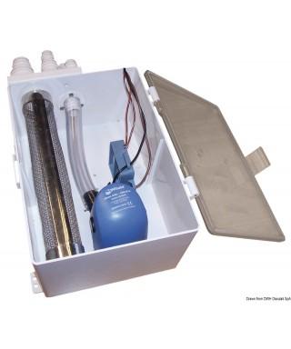 Collecteur d'eaux usées Whale 12V 32 L/min avec pompe automatique