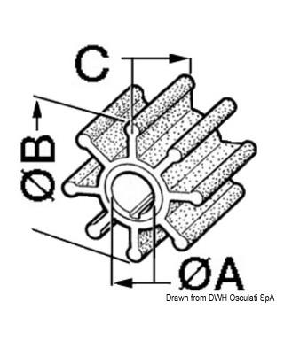 Turbine pompe pour refroidissement eau 1877-0001 22120-0001 876120