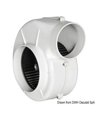 Aspirateur centrifuge avec étrier 24V 11A Débit 750 m3/h