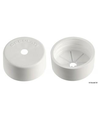 Bouchon de finition pour tuyaux 16.104.39 blanc