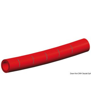Tuyau Whale eau froide 15 mm rouge bobine 50 m