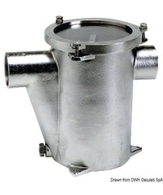 """Filtre eau refroidissement moteur Inox 316 RINA 1""""1/4"""