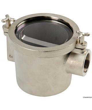 """Filtre eau laiton nickelé RINA 1"""" Débit 5000L/heure - 0,1 bar"""