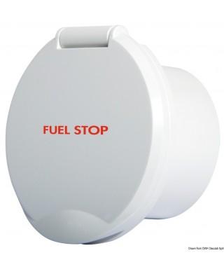 Bloc ABS blanc Classic Evo avec mention FUEL STOP