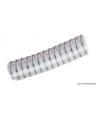 Tuyau avec spirale 50 x 65 mm EnPVC transparent