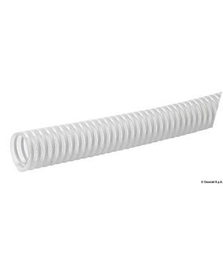 Tuyau avec spirale en PVC blanc 22 mm