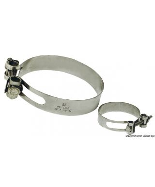 Collier de serrage Heavy Duty Inox 316 166/178 mm