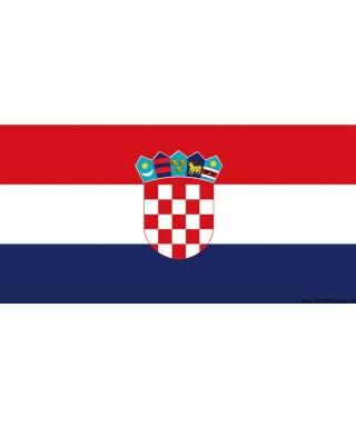 Pavillon Croatie 50 x 75 cm en tissu de polyester teintes indélébiles