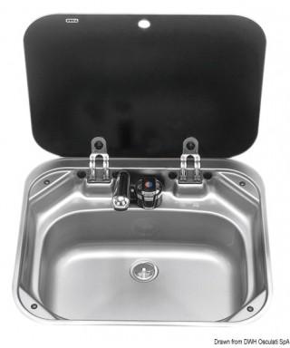 Evier SMEV avec robinet 420x370 mm