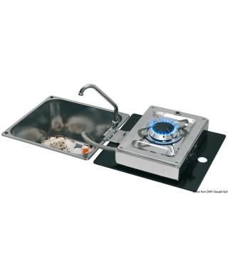 Plan cuisson rabattable à charniere 1 feu rectangulaire