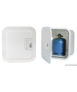 Coqueron pour bombonnes de gaz ventilation frontale