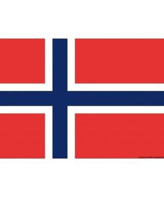 Pavillon Norvège 40 x 60 cm en tissu de polyester teintes indélébiles