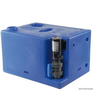 Réservoir eaux usées avec broyer 12V 112 L