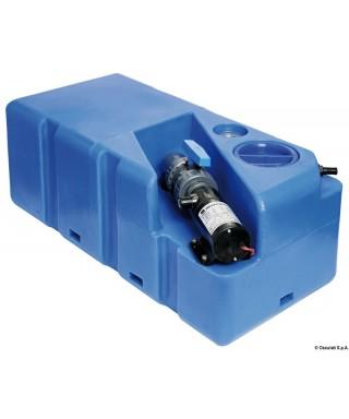 Réservoir eaux usées avec broyer horizontal 80 L 12V