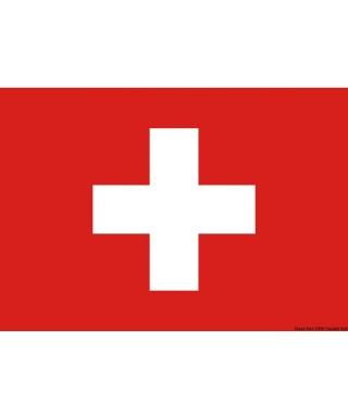 Pavillon Suisse 30 x 45 cm en tissu de polyester teintes indélébiles