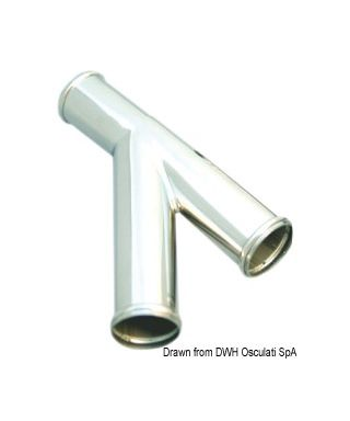 Raccord Y branchement pour évacuations WC tubes 38mm