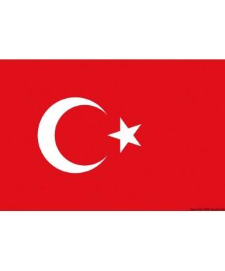 Pavillon Turquie 30 x 45 cm en tissu de polyester teintes indélébiles