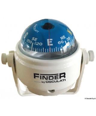 """Compas Finder 2"""" avec étrier blanc/bleu"""