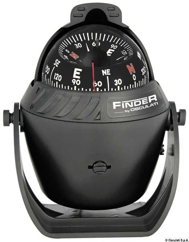 """Compas Finder 2""""5/8 avec étrier noir/noir"""