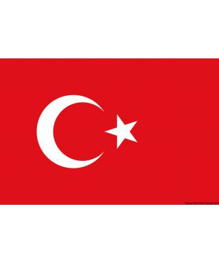 Pavillon Turquie 40 x 60 cm en tissu de polyester teintes indélébiles