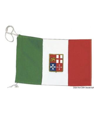 Pavillon Italien Marine Marchande 60 x 90 cm en polyester épais