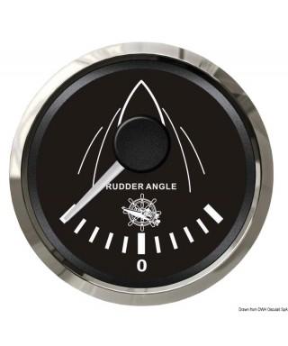 Indicateur angle de barre Cadran noir lunette polie 51mm
